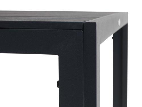 Τραπέζι MADERUP Π90xΜ150 μαύρο