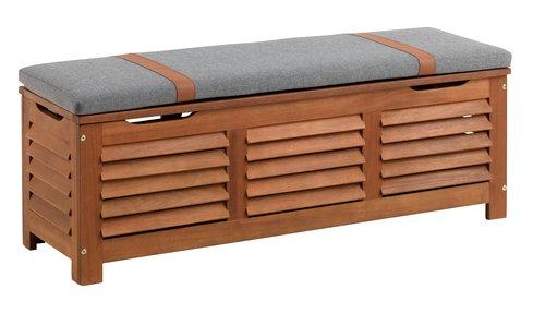 Κουτί αποθήκ KARLBY Π128xΥ43xΒ42 σκ.ξύλο