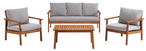 Lounge set TAGEHOLM 5 pers. hardwood