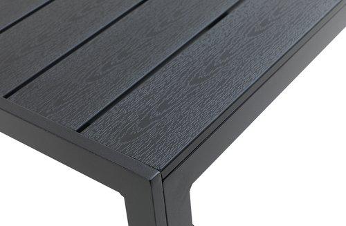 Τραπέζι JERSORE Π80xΜ140 μαύρο