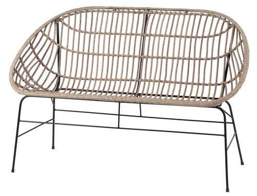 Καναπές σαλ.κήπου GJERLEV 2 ατόμων φυσικ