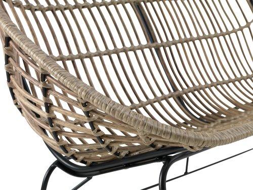 Lounge sofa GJERLEV 2 pers. nature