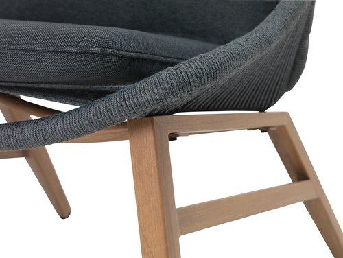 Fauteuil lounge DANNEMARE gris