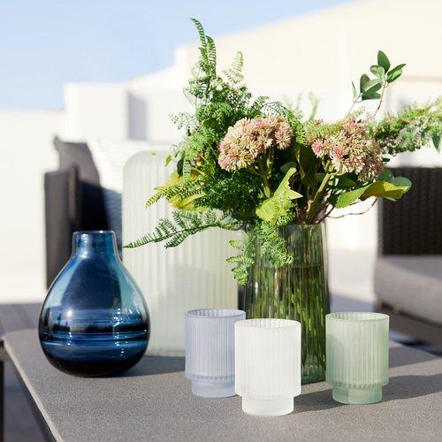 Váza VICTOR Ø15xV19 cm sklo modrá