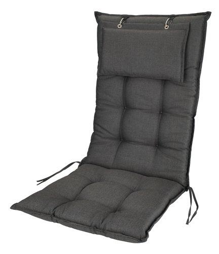 Cushion recliner chair BENNEBO black/gr.
