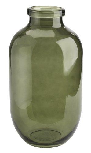 Vase FELIX Ø19xH35cm glass grønn