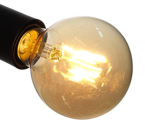 Taklampa TORSTEIN svart exkl. glödlampor