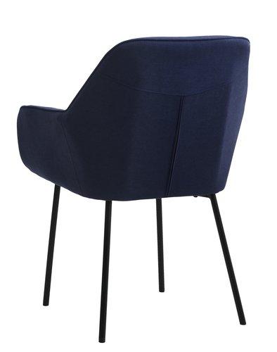 Matstol HADRUP mörkblå/svart