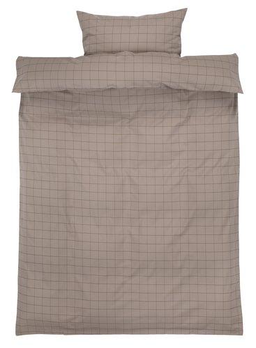 Sengesæt TANJA garnfarvet SGL khaki