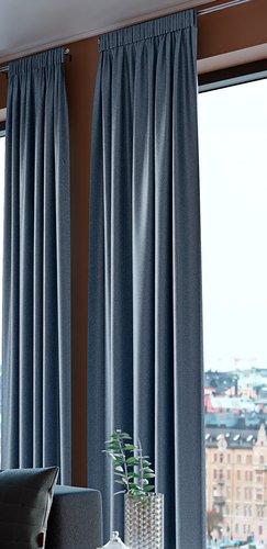 Cortina traslúcida AMUNGEN 1x140x300 azu