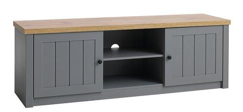 TV-bänk MARKSKEL grå/ek