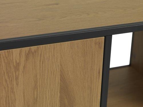 Sideboard TRAPPEDAL 1 door oak/black