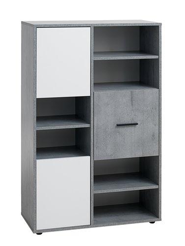 Boekenkast BILLUND 3 deuren wit/beton