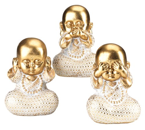 Декор OVE д.9 в.13см 3шт Будда