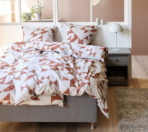 Duvet cover MINNA KNG red