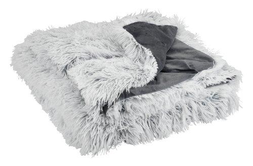 Pelspledd LOTUS 135x195 hvit/grå