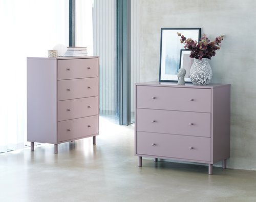 4 drawer chest TRYSIL dusty rose