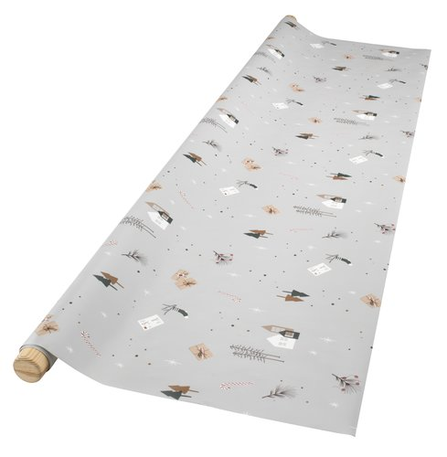 Tekstilvoksdug BRASA 140 lysegrå