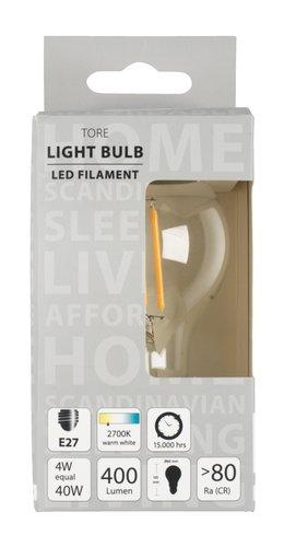 Glödlampa TORE 4W E27 LED 400 lumen