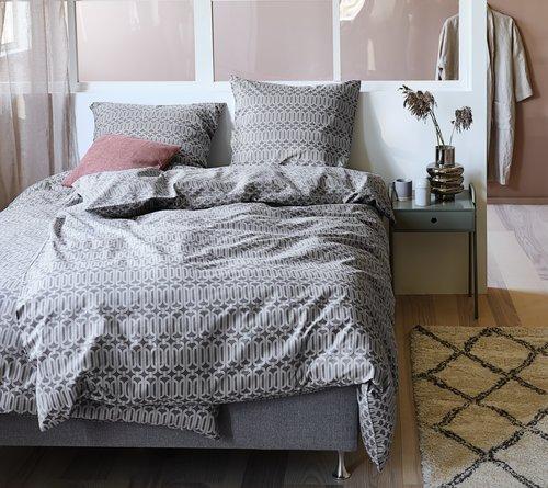 Lenjerie pat+cearsaf EVA dublă