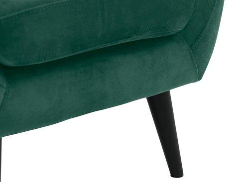 Fotel EGEDAL aksamit granatowy