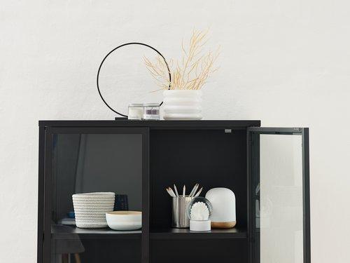 Display cabinet VIRUM 2 doors black