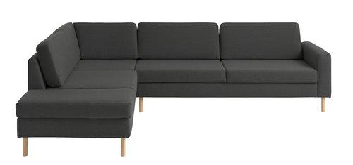 Sofa SVALBARD open-end venstre mørkegrå