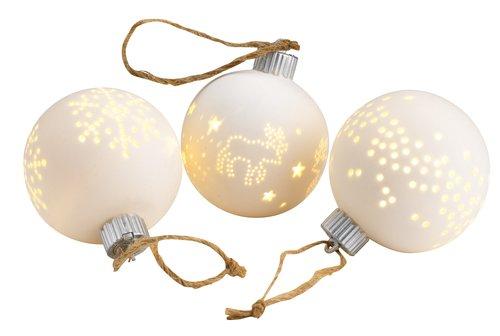 Karácsonyi gömbdísz SNORRE ÁTM8cm LED