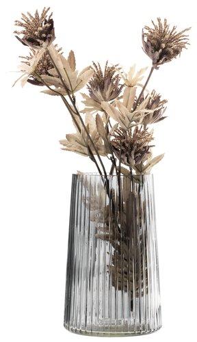 Vase ROY Ø13xH20cm Glas grau