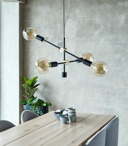 Hanglamp TORSTEIN zwart excl. gloeilamp