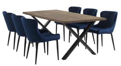 Обідній стіл HELLERUP 95x200 дим. дуб