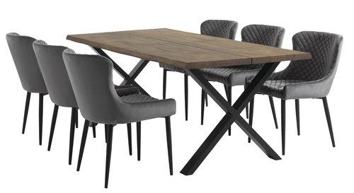 Stół HELLERUP 95x200 przyd.dąb