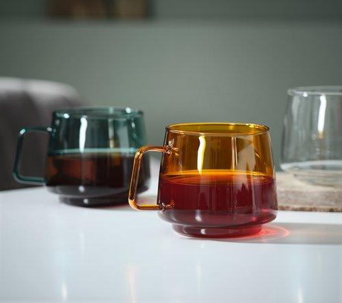 Mugg ANDERS Ø13xH8cm glas osort.