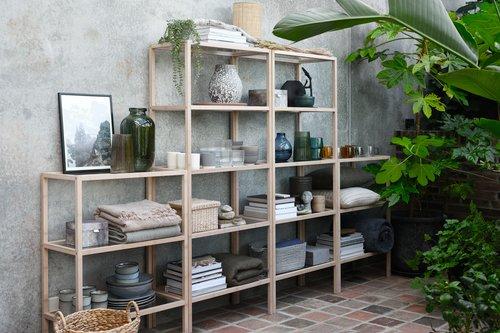 Shelving unit BRANDE 3 shelves bamboo