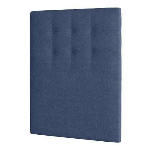 Tête de lit 90x125 H50 TISSÉ Bleu-85