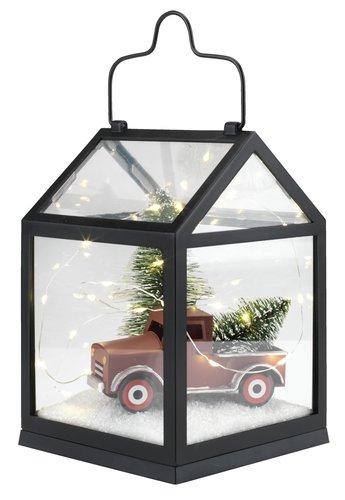 Lanterne HYME B14xL14xH20cm m/pynt & LED