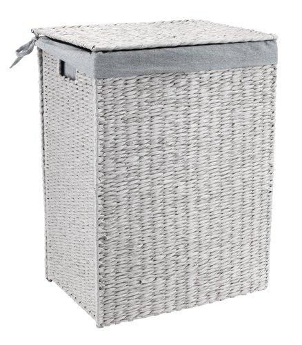 Tvättkorg KETIL B30xL42xH56cm grå