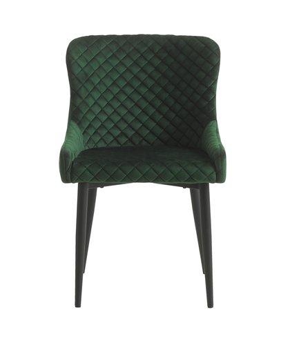 Spisebordsstol PEBRINGE velour grøn/sort