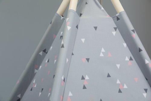 Spielzelt SMILLA 160x120 Dreiecke rosa