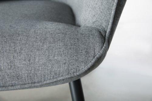 Sessel ULDUM grau/schwarz