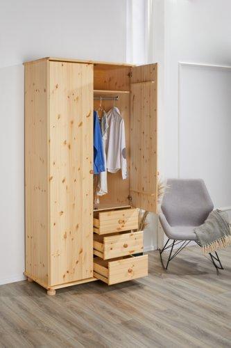 Kleiderschrank BRITTA 103x224 lackiert