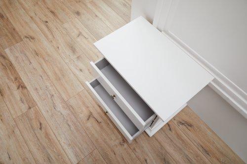 Mesa cabeceira PARISO 2 gavetas branco