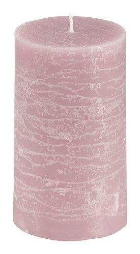 Bougie pilier EILEF Ø7xH12cm rose