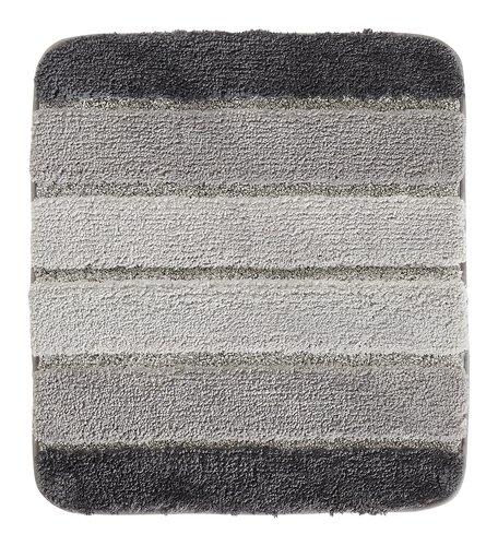 Badematte STRIPE 45x50 grau