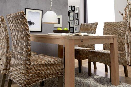Cadeira jantar RIO Kubu natural/cinzento