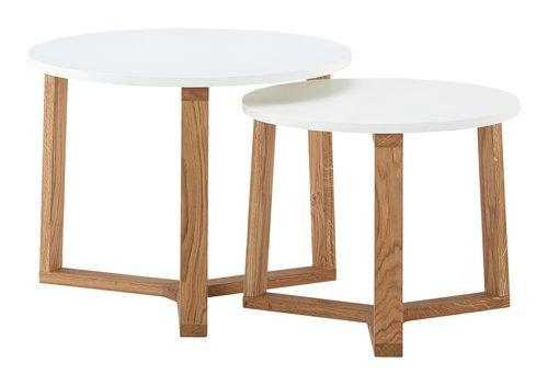 Tables gigognes SVENSTRUP blanc/chêne