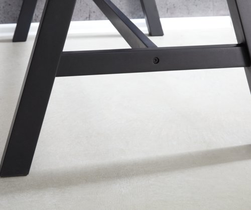 Bartisch SANDBY 71x128 Eiche/schwarz