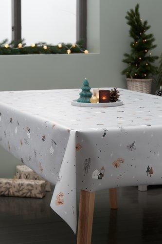 Gecoat tafelzeil BRASA 140 licht grijs