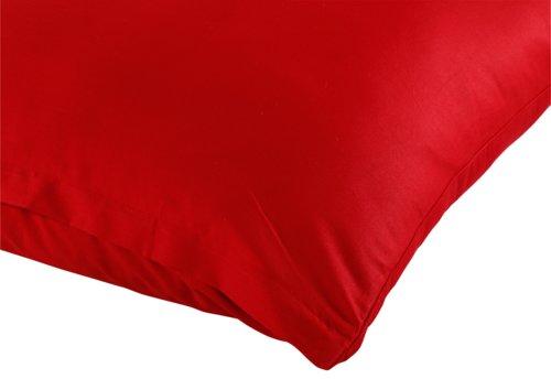 Kissenbezug Satin 35x55 rot KRONBORG