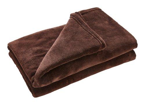 Plaid UNI DE LUXE fleece 140x200 marrone